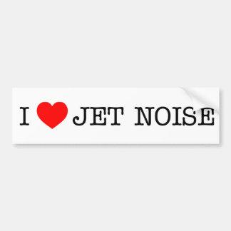 Eu amo o ruído do jato adesivo para carro