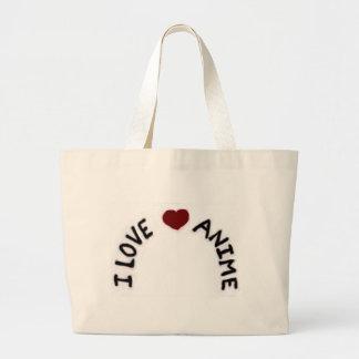 Eu amo o saco de livro do Anime Bolsas