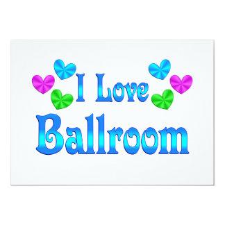 Eu amo o salão de baile convites