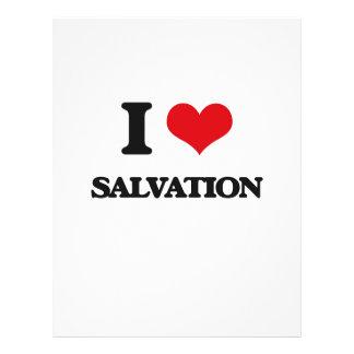 Eu amo o salvação panfletos
