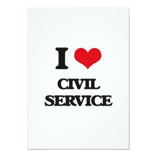 Eu amo o serviço civil convite 12.7 x 17.78cm