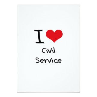 Eu amo o serviço civil convite personalizado