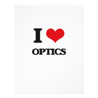 Eu amo o sistema ótico modelo de panfleto