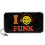 Eu amo o smiley da música do funk com auto-falante caixinha de som para notebook