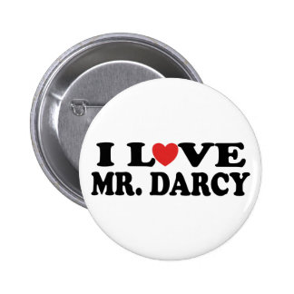 Eu amo o Sr. Darcy Bóton Redondo 5.08cm