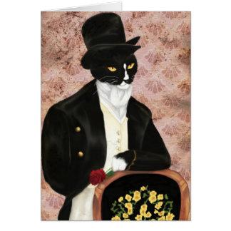 Eu amo o Sr. Darcy Romântico Gato Cartão