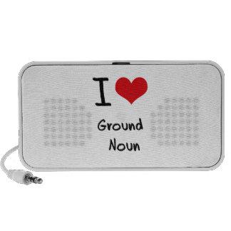 Eu amo o substantivo à terra caixinha de som para iPhone