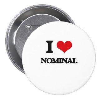 Eu amo o substantivo botons