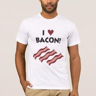 Eu amo o T do bacon Camiseta