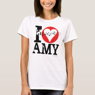 Eu amo o t-shirt 1 do Amy Camiseta