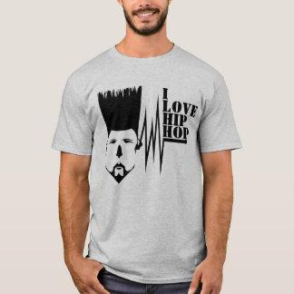 EU AMO o t-shirt básico dos homens do HIP-HOP Camiseta