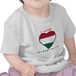 Eu amo o t-shirt da criança de Keresztanya