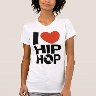 EU AMO o t-shirt de HIP HOP (as mulheres)