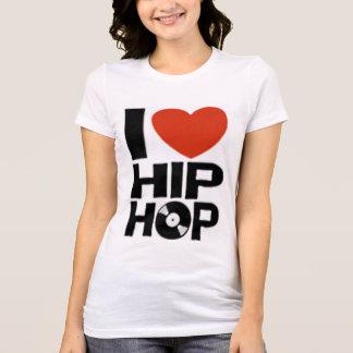 EU AMO o t-shirt de HIP HOP (as mulheres) Camiseta