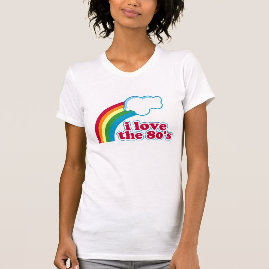 Eu amo o t-shirt do anos 80 camiseta