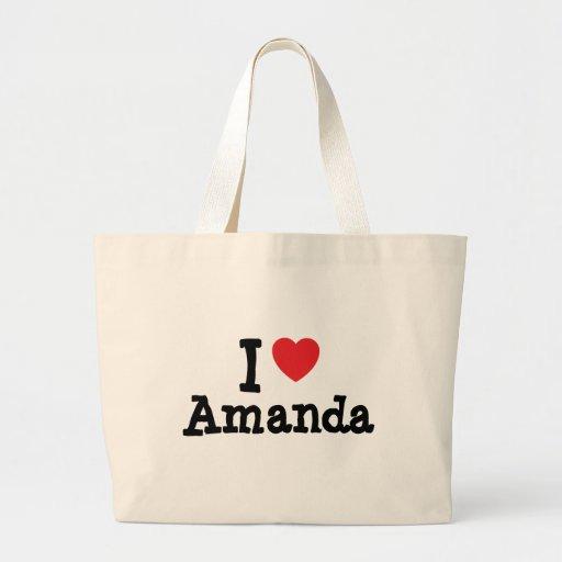 Eu amo o t-shirt do coração de Amanda Bolsa
