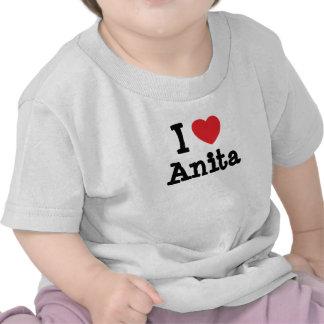 Eu amo o t-shirt do coração de Anita
