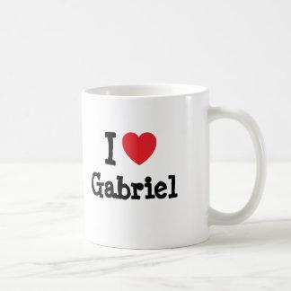 Eu amo o t-shirt do coração de Gabriel Caneca