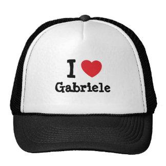 Eu amo o t-shirt do coração de Gabriele Bone