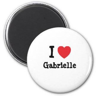 Eu amo o t-shirt do coração de Gabrielle Imã De Refrigerador