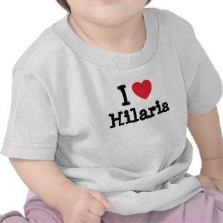 Eu amo o t-shirt do coração de Hilaria