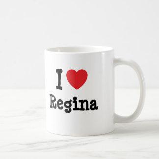 Eu amo o t-shirt do coração de Regina Caneca
