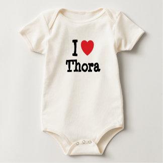 Eu amo o t-shirt do coração de Thora Body Para Bebê