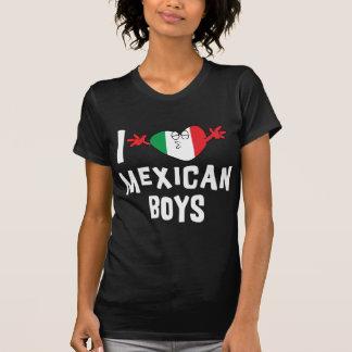 Eu amo o t-shirt escuro da mulher mexicana dos men