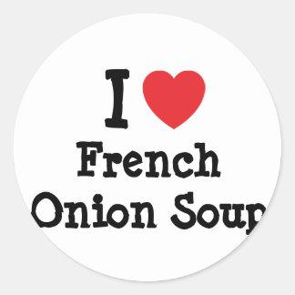 Eu amo o t-shirt francês do coração da sopa da adesivo