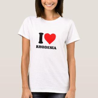 Eu amo o t-shirt legal de Rodésia Camiseta