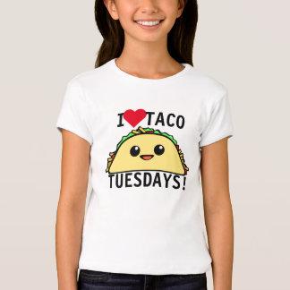 Eu amo o Taco terças-feiras T-shirts