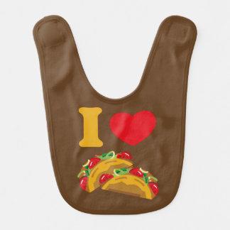 Eu amo o Tacos Babador Infantil