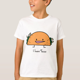 Eu amo o Tacos - t-shirt dos miúdos Camiseta