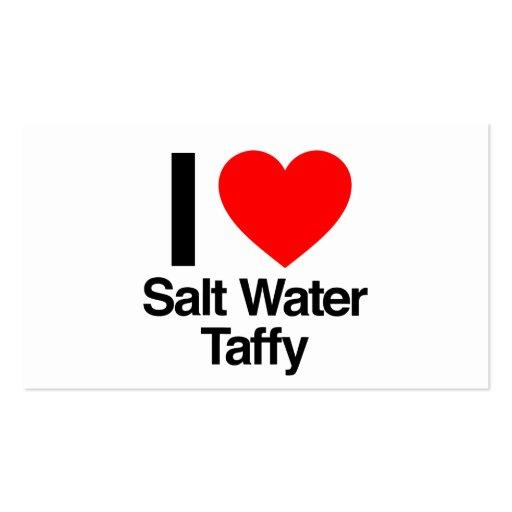 eu amo o taffy da água salgada modelos cartões de visitas
