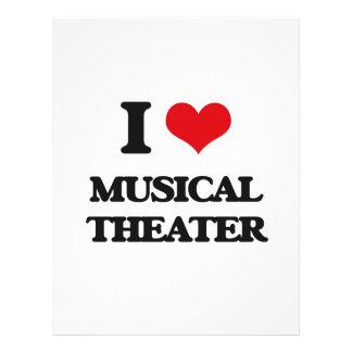 Eu amo o TEATRO MUSICAL Panfletos Personalizado