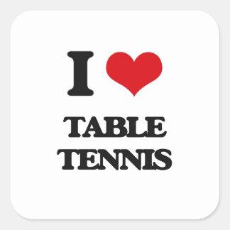 Eu amo o ténis de mesa adesivos quadrados
