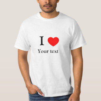Eu amo o texto ajustado NY T-shirts