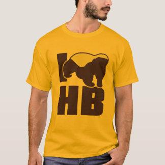 eu amo o texugo de mel camiseta