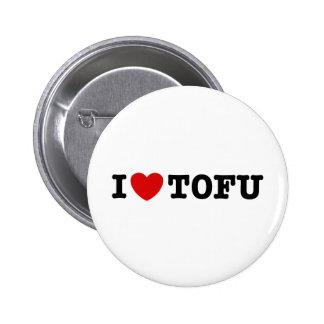 Eu amo o Tofu Bóton Redondo 5.08cm