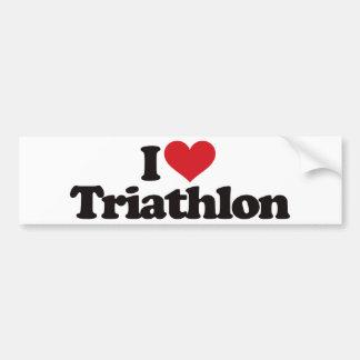 Eu amo o Triathlon Adesivo Para Carro