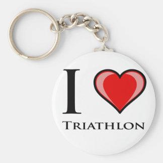 Eu amo o Triathlon Chaveiro