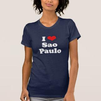 Eu amo o Tshirt do branco do Tshirt de Sao Paulo Camiseta