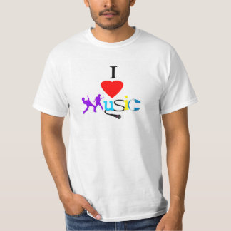 Eu amo o Tshirt dos homens da música