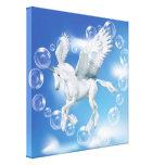 Eu amo o unicórnio Pegasus das bolhas Impressão Em Tela
