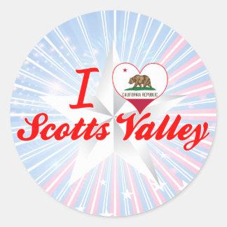 Eu amo o vale de Scotts, Califórnia Adesivos Em Formato Redondos