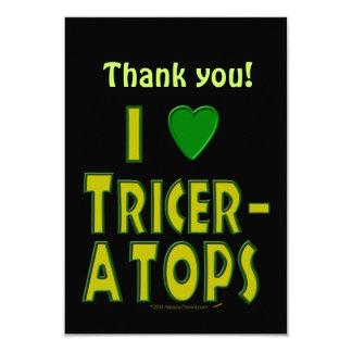 Eu amo (o verde do dinossauro do Triceratops do Convite Personalizado
