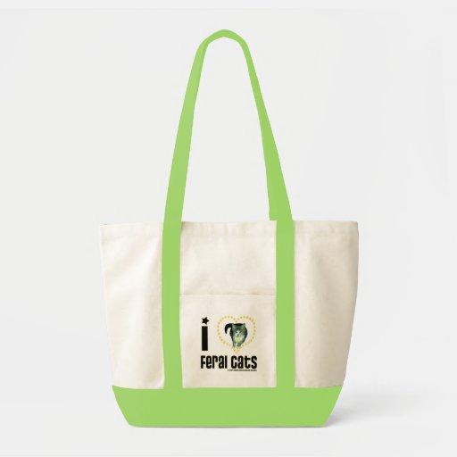 Eu amo o verde feroz do bolsa dos gatos