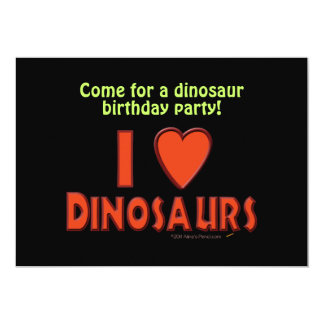 Eu amo (o vermelho do amante do dinossauro dos convites