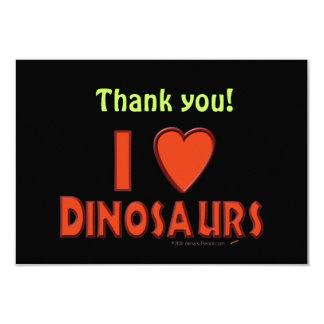 Eu amo (o vermelho do amante do dinossauro dos convites personalizado