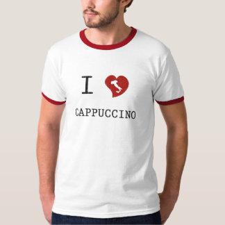 Eu amo o vintage do Cappuccino Camisetas